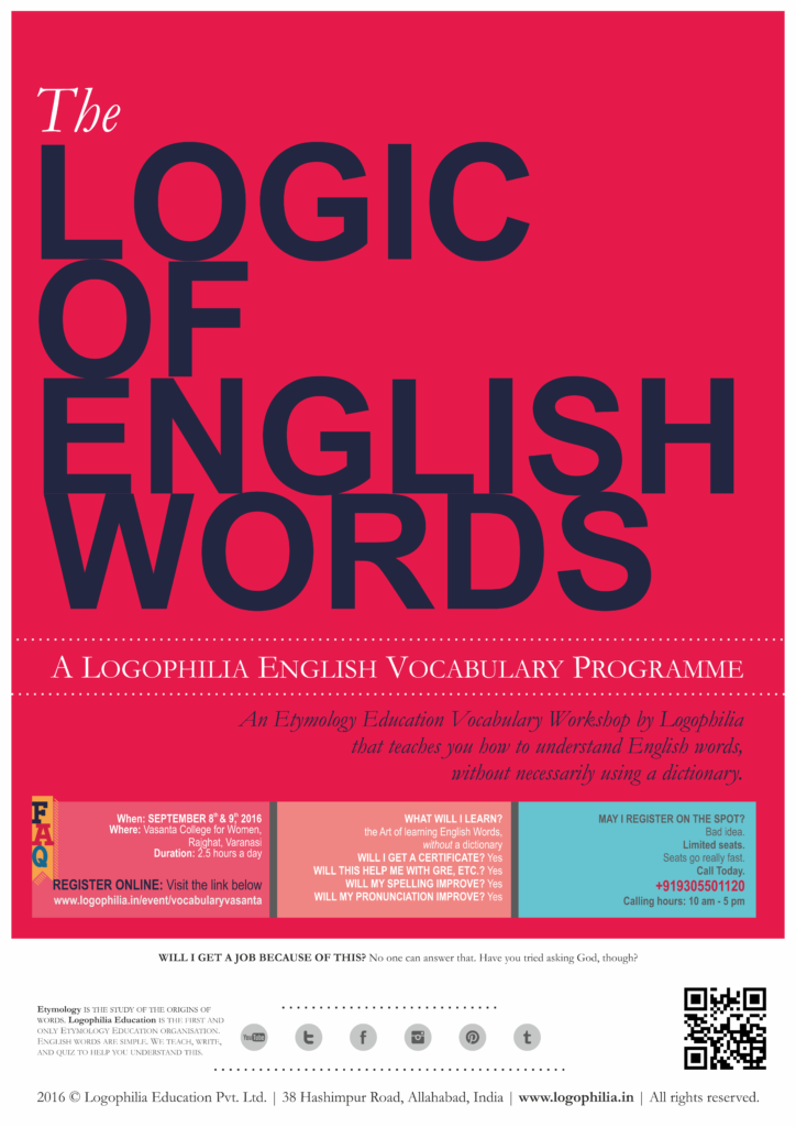 The Logic of English Poster Vasanta 2016
