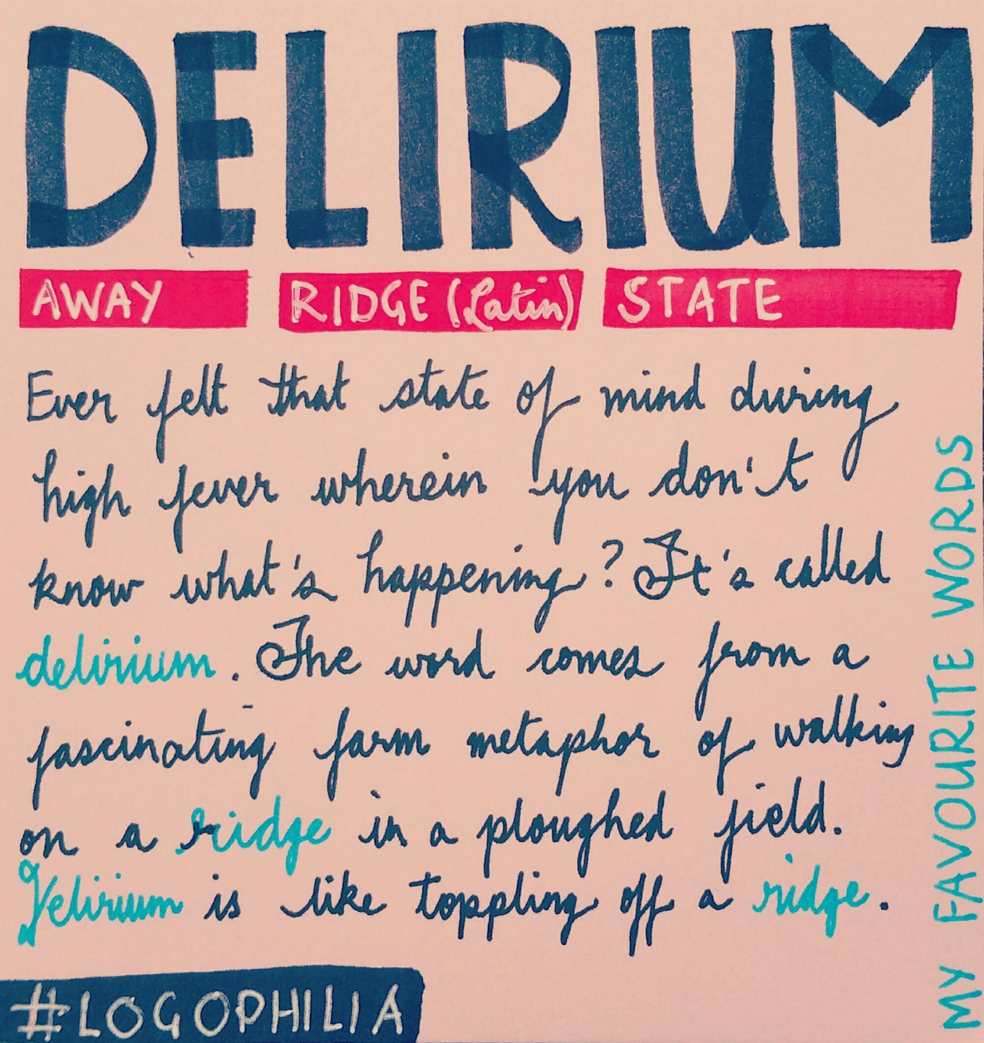 Logophilia Words Vocabulary Etymology Etterwaytolearnenglish Isntthishowyoushouldstudy Picoftheday Love Follow Englishwords Delirium